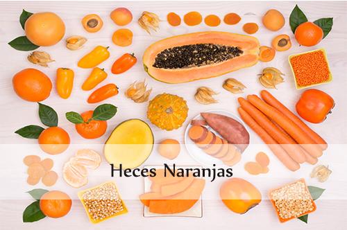 heces naranjas